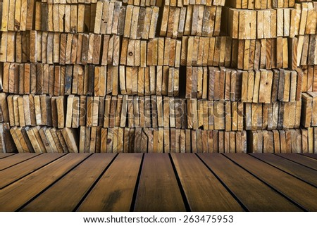 stack of wood for texture background - stock photo