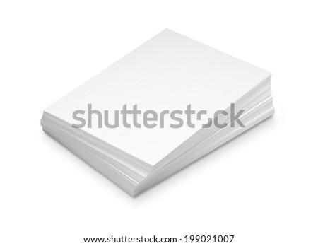 Stack white paper - stock photo