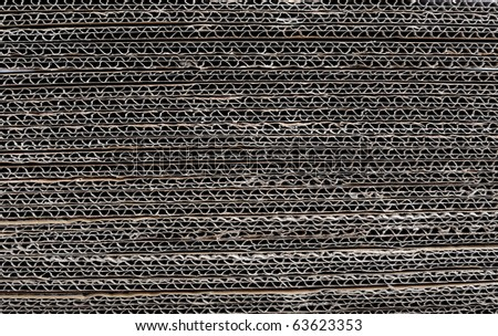 Stacked corrugated cardboard - stock photo