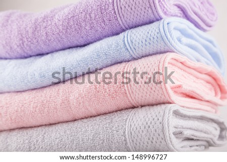 stacked towel - stock photo