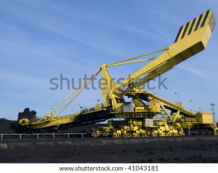 Stacker reclaimer - stock photo