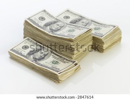 Stacks of money. - stock photo