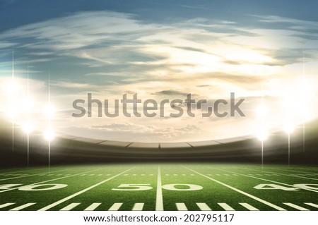 stadium american - stock photo