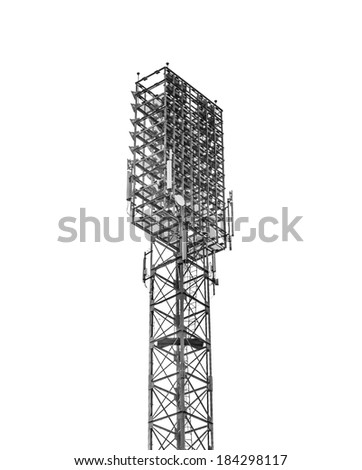 Stadium floodlight  - stock photo