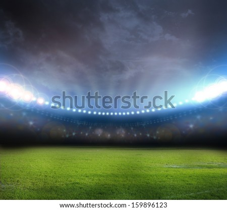 stadium in lights  - stock photo