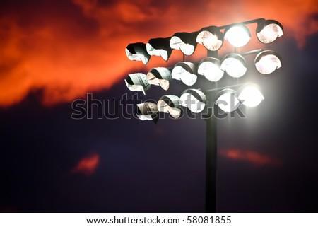 Stadium Night Lights - stock photo
