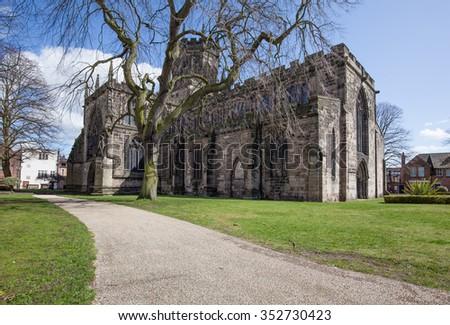 Stafford St.Mary church - stock photo