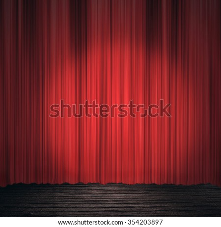 Stage - backdrop - stock photo