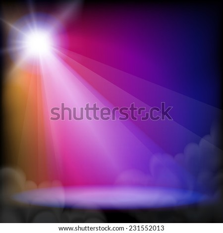 Stage light. - stock photo