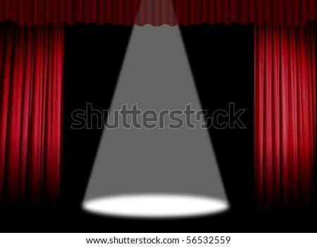 Stage light beam - stock photo