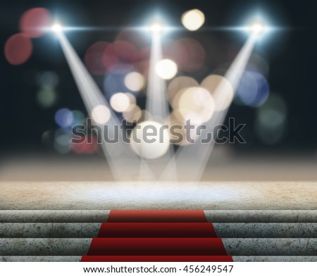 Stage Lighting Background 3D rendering. - stock photo