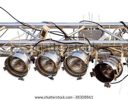 stage lights isolated - stock photo