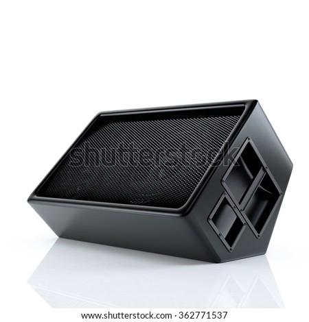 Stage speaker isolated on white background - stock photo
