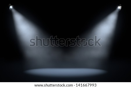 stage spotlights background - stock photo