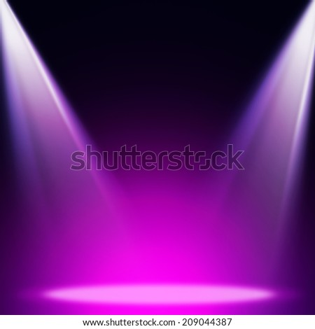Stage theater on violet background  - stock photo