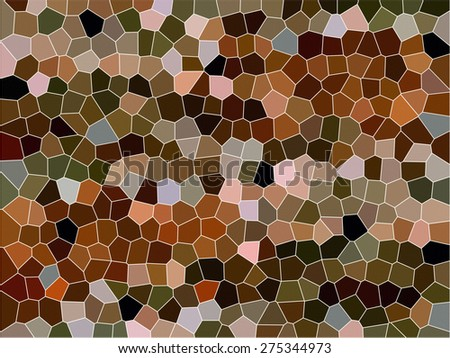 Stained Glass Abstract - stock photo