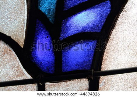 Stained glass abstract 4 - stock photo