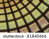Stained glass ceiling dome - stock photo