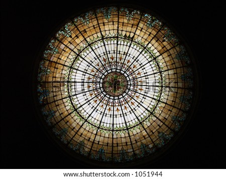 Stained-Glass Dome - stock photo