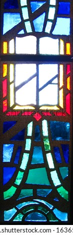 Stained Glass representation of the Holy Bible - stock photo