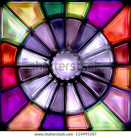 stained-glass window - stock photo