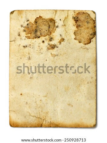Stained old photo - stock photo