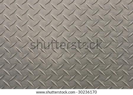 Stainless diamond plate - stock photo