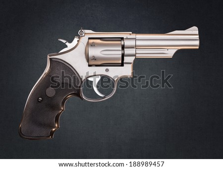 Stainless 357 Magnum Revolver  - stock photo