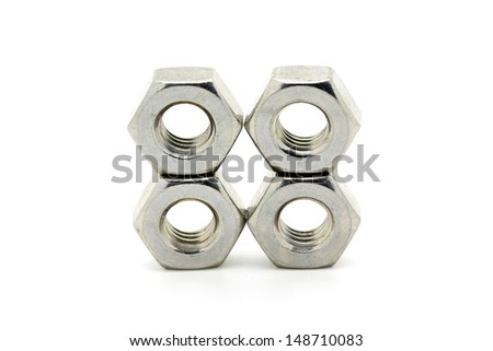 Stainless nut - stock photo