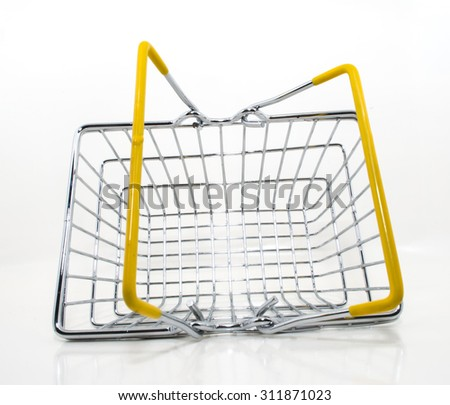 Stainless steel basket - stock photo