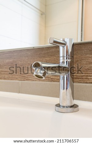 Stainless Steel Faucet - stock photo