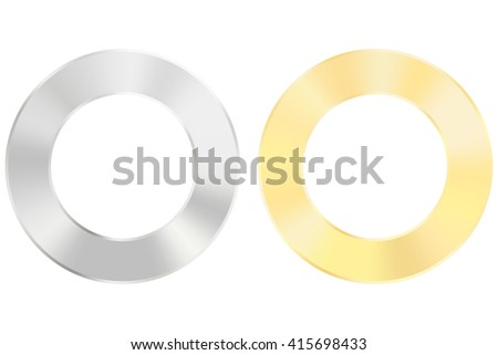 Stainless Steel Flat Washer. Illustration isolated on white background. Raster version - stock photo
