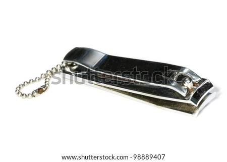 stainless steel nail clipper - stock photo