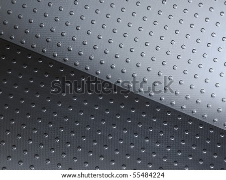 Stainless steel panels creating optical illusion of movement - stock photo