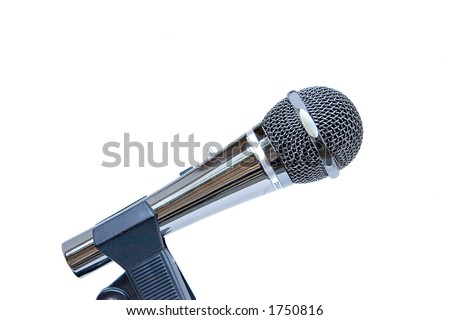 Stainless steel performance microphone - stock photo