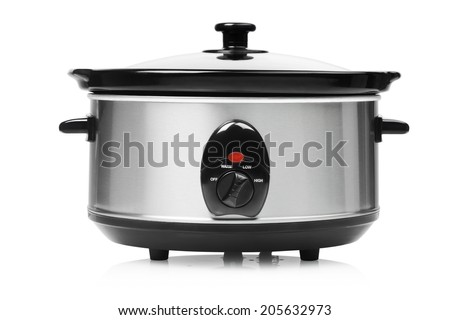 stainless steel pot - stock photo