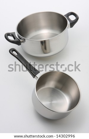 Stainless Steel Pot and Saucepans - stock photo