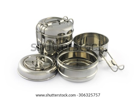 Stainless Steel Tiffin Box - stock photo