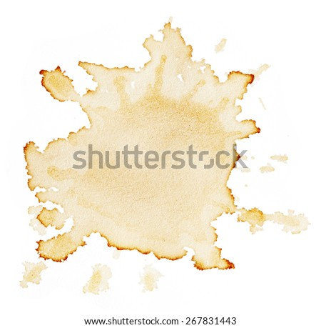 Stains of coffee isolated on white background - stock photo