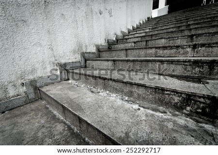 stair background - stock photo