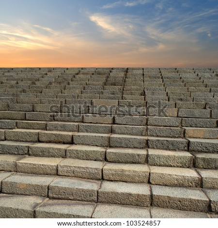 Stair case - stock photo