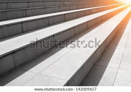 Stair concrete - stock photo