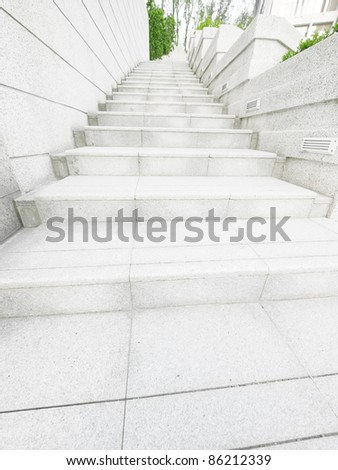 Stair in the park - stock photo
