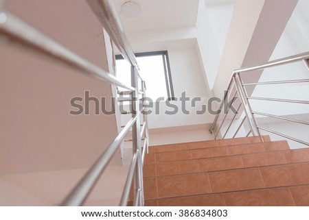 staircase at my home - stock photo