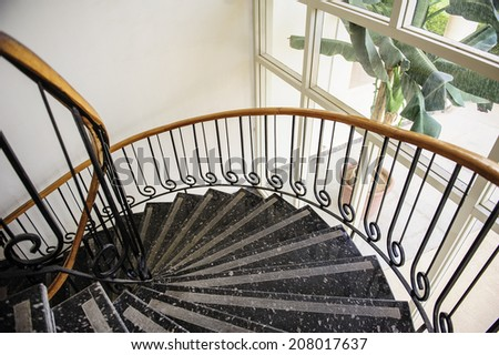 staircase in the interior - stock photo