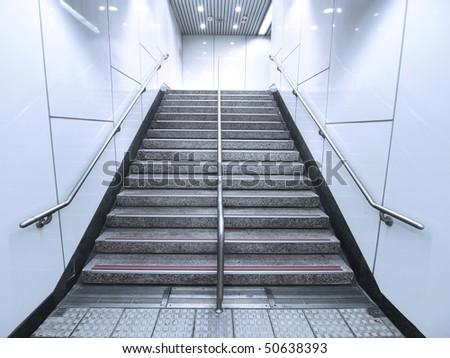 Staircase in underground passage - stock photo