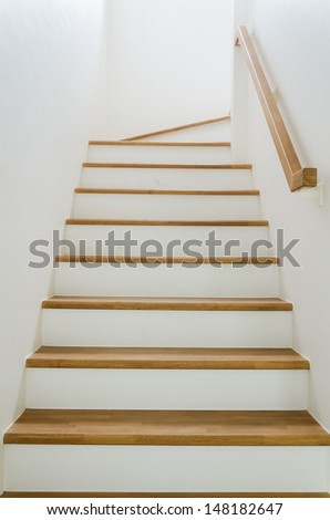 Staircase interior at home - stock photo