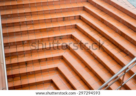 staircase,staircase of stones,tunnel Staircase going up to the light - stock photo