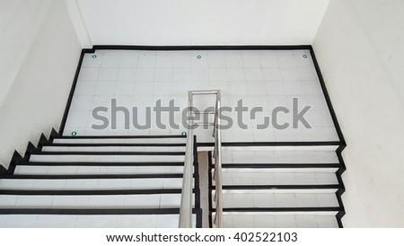 staircase white background - stock photo