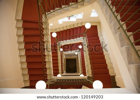Staircase with stair - stock photo